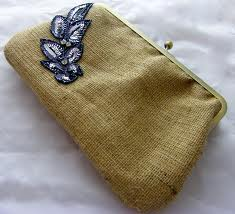 jute clutch bags purse for ladies
