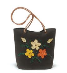 eco friendly embroidered jute bag for ladies